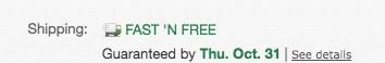 eBay Free Shipping