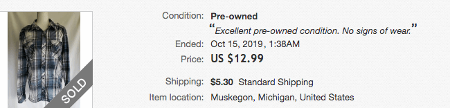 Price Buckle Shirt eBay